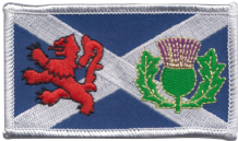 Scotland Saltire Lion Rampant & Thistle Embroidered Badge (a485)